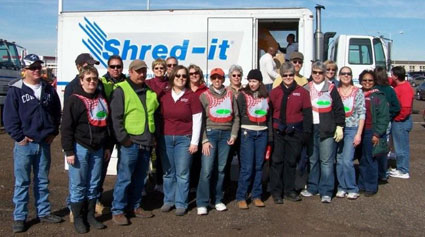 GO Month Shred-A-Thon (PONM with friends and family volunteers)